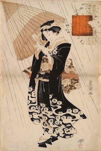 Poetess-Ono-No-Komachi-In-Rain-Utagawa-Toyokuni-Ii-late-18th-Century-early-19th