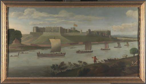 Windsor-Castle-From-Buckinghamshire-Bank-Artist-Unknown-Art-Poster-Photo-Print