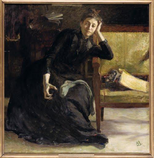 Artist-Eva-Bonnier-Rickard-Bergh-1889-Repro-Art-Photo-Poster-Print-Satin-Canvas