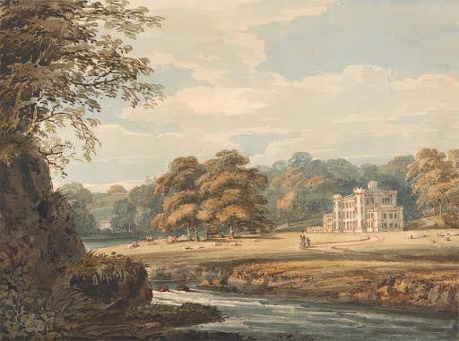 Chalfont-House-Buckinghamshire-Thomas-Girtin-1796-Art-Photo-Poster-Reprint-6x4-A