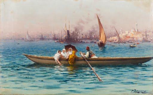 Amusement-Caique-Fausto-Zonaro-late-19th-Century-early-20th-Century-Art-Photo